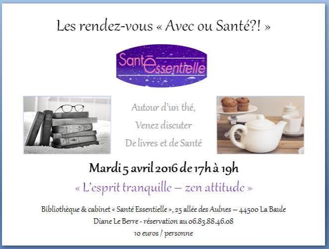 Les rendez-vous - Avec ou Santé - 5 avril 2016