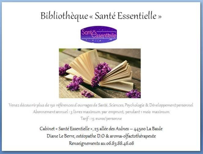 Bibliothèque - Santé Essentielle - contour