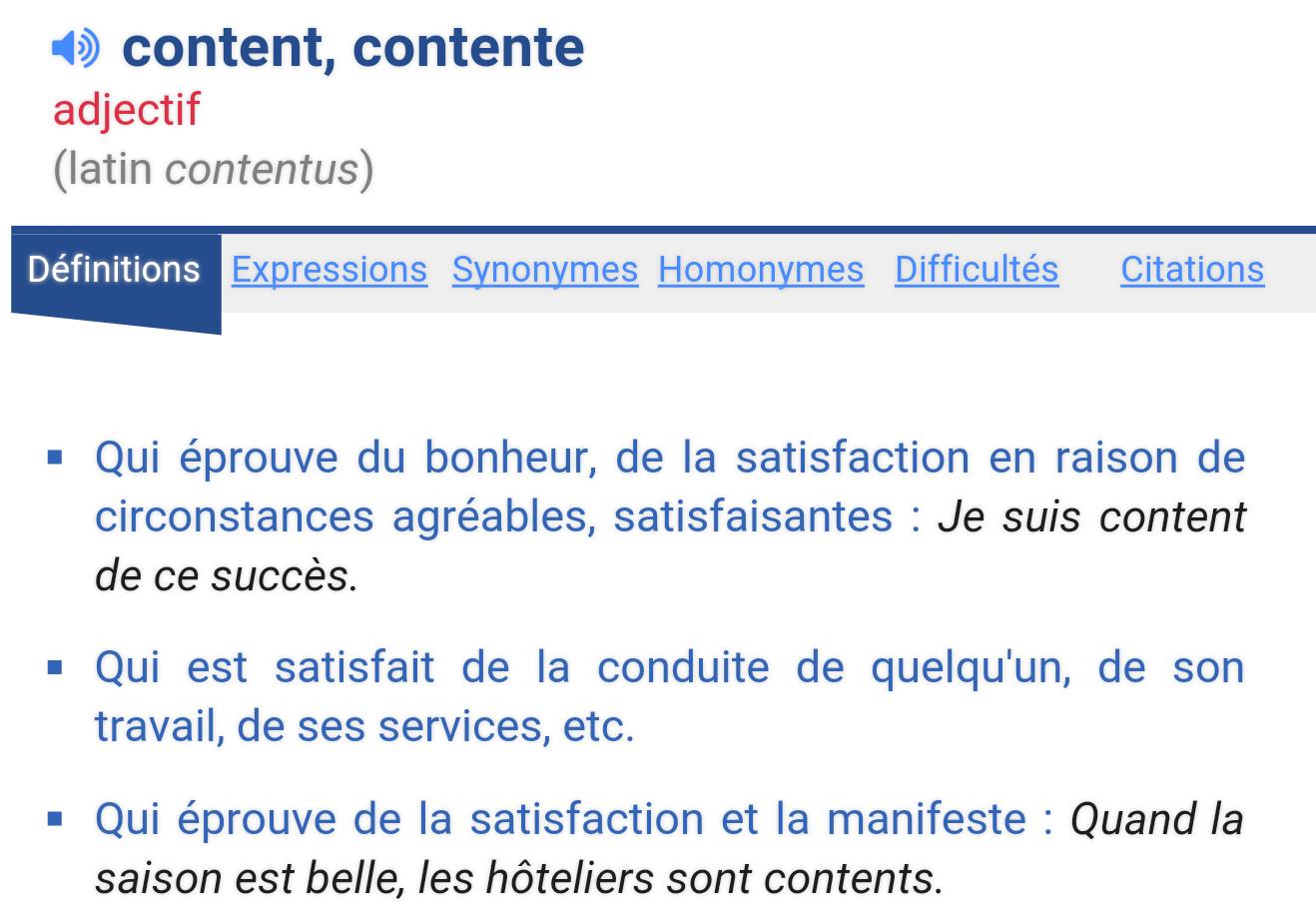 """définition """"content"""""""
