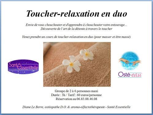 Toucher-relaxation en duo - contour