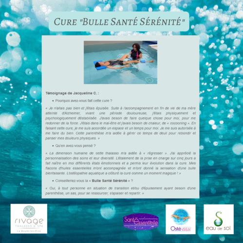 Cure _Bulle Santé Sérénité_ - Témoignage bis
