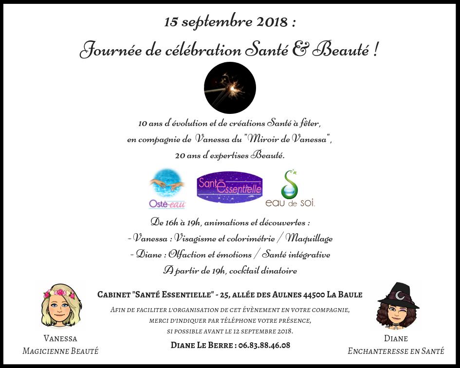 sante-essentielle-15-septembre-2018-journee-celebration-sante -beauté